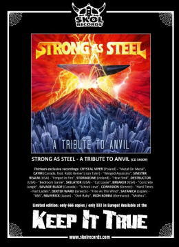 """Strong As Steel - A Tribute To ANVIL"" On Sale"