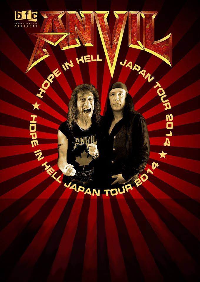 ANVIL Hope In Hell Japan Tour 2014